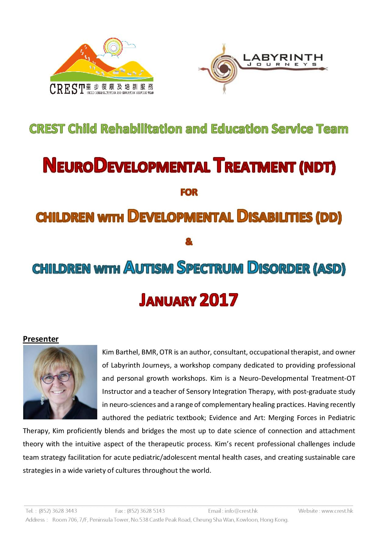 NDT for Developmental Disabilities & NDT for Autism Spectrum